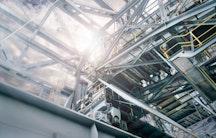 Industrieanlage als Symbolbild fuer Forschung in der Industrie