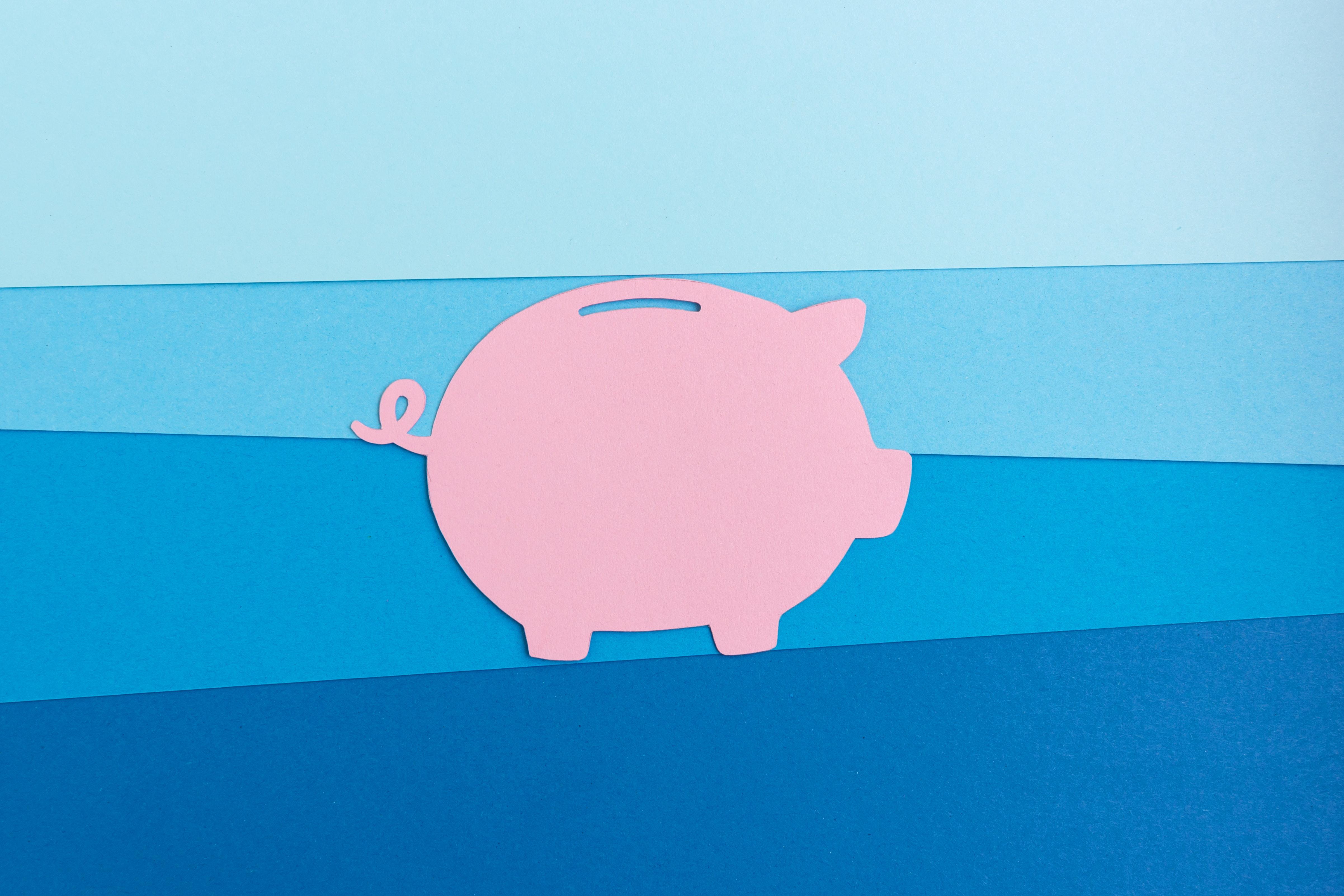 Papierschwein Symbolbild Finanzierung Promotion