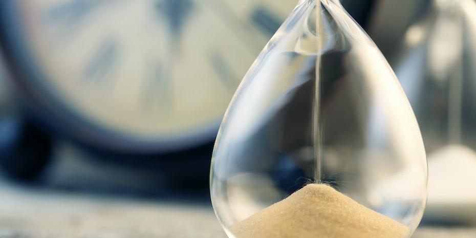 Sanduhr Symbolbild Wissenschaftszeitvetragsgesetz