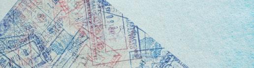 Visa Stempel Symbolbild Auslandsstipendium