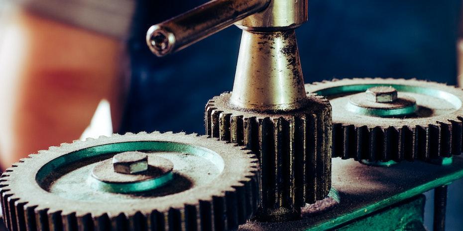 Zahnräder Symbolbild Bewerbung Maschinenbau